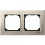 M-Elegance metal frame, 2-gang, Titanium