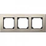 M-Elegance metal frame, 3-gang, Titanium