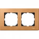 M-Elegance wood frame, 2-gang, Beech