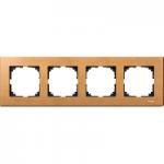 M-Elegance wood frame, 4-gang, Beech