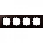 M-Elegance wood frame, 4-gang, Wenge