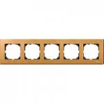 M-Elegance wood frame, 5-gang, Beech