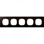 M-Elegance wood frame, 5-gang, Wenge