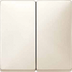 Cover plate for Rocker Double switch or button, White