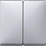 Cover plate for Rocker Double switch or button, Aluminium