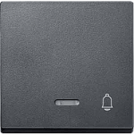 Cover plate for Rocker Single switch, Anthracite