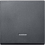Cover plate for Rocker Single switch with lighting window, Anthracite