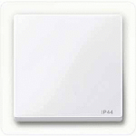 Cover plate for Rocker Single switch, Active White IP44
