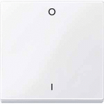 Cover plate for Rocker Single switch or button, Active White