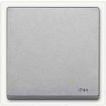 Cover plate for RockerSingle swich or button, Aluminium IP44