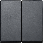 Cover plate for Rocker Single swich or button, Anthracite