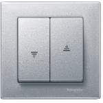 Rocker for roller shutter switch and push-button, Aluminium