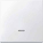 Cover plate for Rocker Single swich with lighting window, Polar White