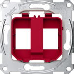 Supporting plates for modular jack connector, red
