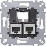RJ45 data socket Schneider Electric 2gang, Cat6 UTP
