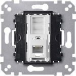 RJ12 telephone socket insert, 6 contacts