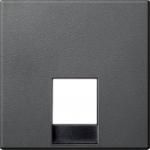 Central plate for telephone socket-outlet insert RJ11/RJ12, Anthracite