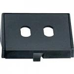 Insert for optical fibre ST connectors, black