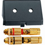 Insert with high-end loudspeaker connector, black