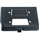 Insert for D-type plug connectors, 15-pole, black
