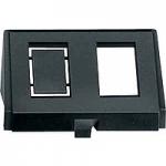 Insert for modular jack connector, black