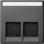 Central plate 1-gang for RJ45-Connector, Anthracite