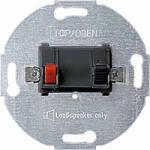 Loudspeaker connection insert, 1-gang, Anthracite
