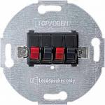 Loudspeaker connection insert, 2-gang, Anthracite