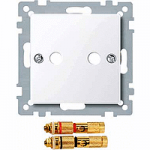 Central plate with high-end loudspeaker connector, Active White