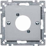 Central plate for XLR audio plug connector, Aluminium