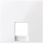 Central plate for telephone socket-outlet insert RJ11/RJ12, Active White