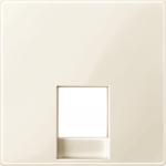 Central plate for telephone socket-outlet insert RJ11/RJ12, White