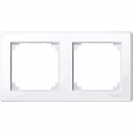 M-Smart frame, 2-gang, Active White, glossy