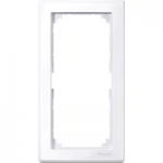 M-Smart frame, 2-gang without central bridge piece, Active White, glossy