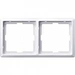 Artec frame, 2-gang, Polar White