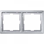 Artec frame, 2-gang, Aluminium