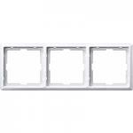 Artec frame, 3-gang, Polar White