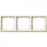 Artec frame, 3-gang, White