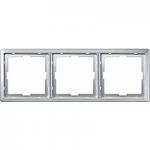 Artec frame, 3-gang, Aluminium