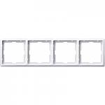 Artec frame, 4-gang, Polar White