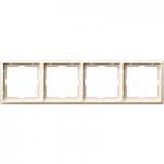 Artec frame, 4-gang, White