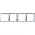 Artec frame, 4-gang, Aluminium