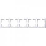 Artec frame, 5-gang, Polar White