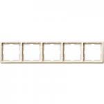 Artec frame, 5-gang, White