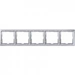 Artec frame, 5-gang, Aluminium