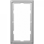 Artec frame, 2-gang without central bridge piece, Stainless steel