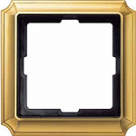 Antique frame, 1-gang, Polished brass