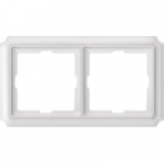 Antique frame, 2-gang, Polar white