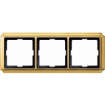Antique frame, 3-gang, Polished brass