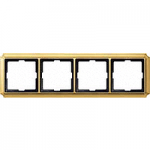 Antique frame, 4-gang, Polished brass